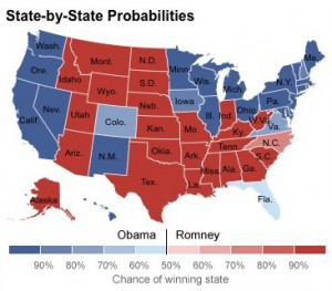 US Election Map - Nate Silver