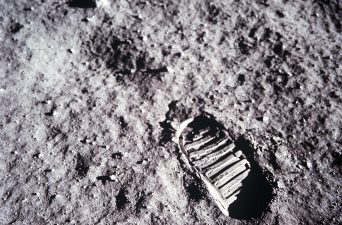Aldrin Bootprint on the Moon