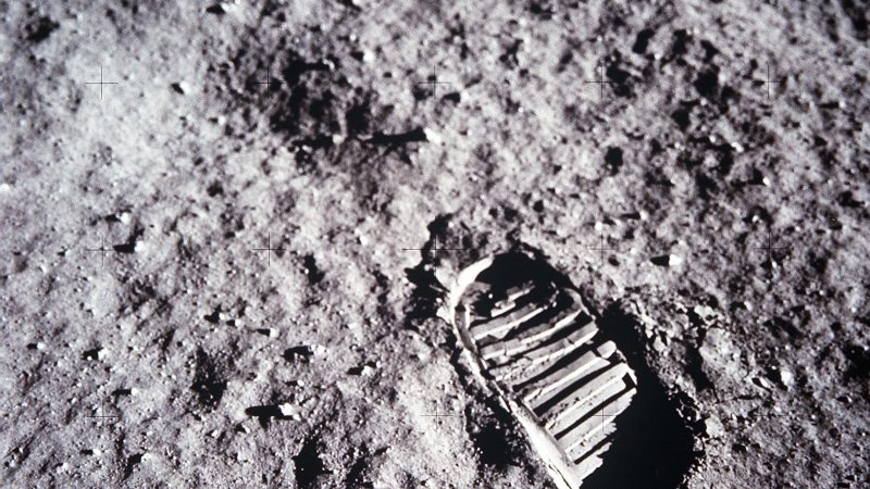 Aldrin Bootprint on the Moon
